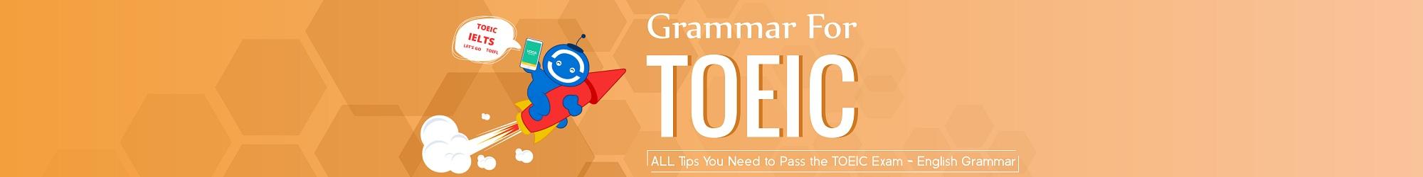 GRAMMAR FOR TOEIC TEST banner