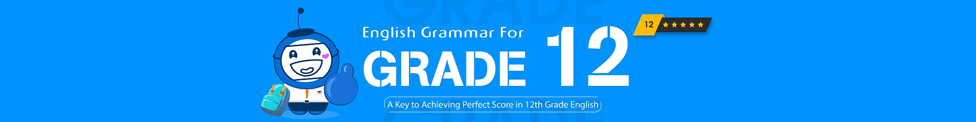 GRAMMAR FOR 12TH GRADE banner