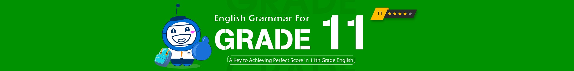 GRAMMAR FOR 11TH GRADE banner