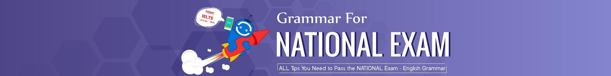 GRAMMAR FOR NATIONAL EXAM banner
