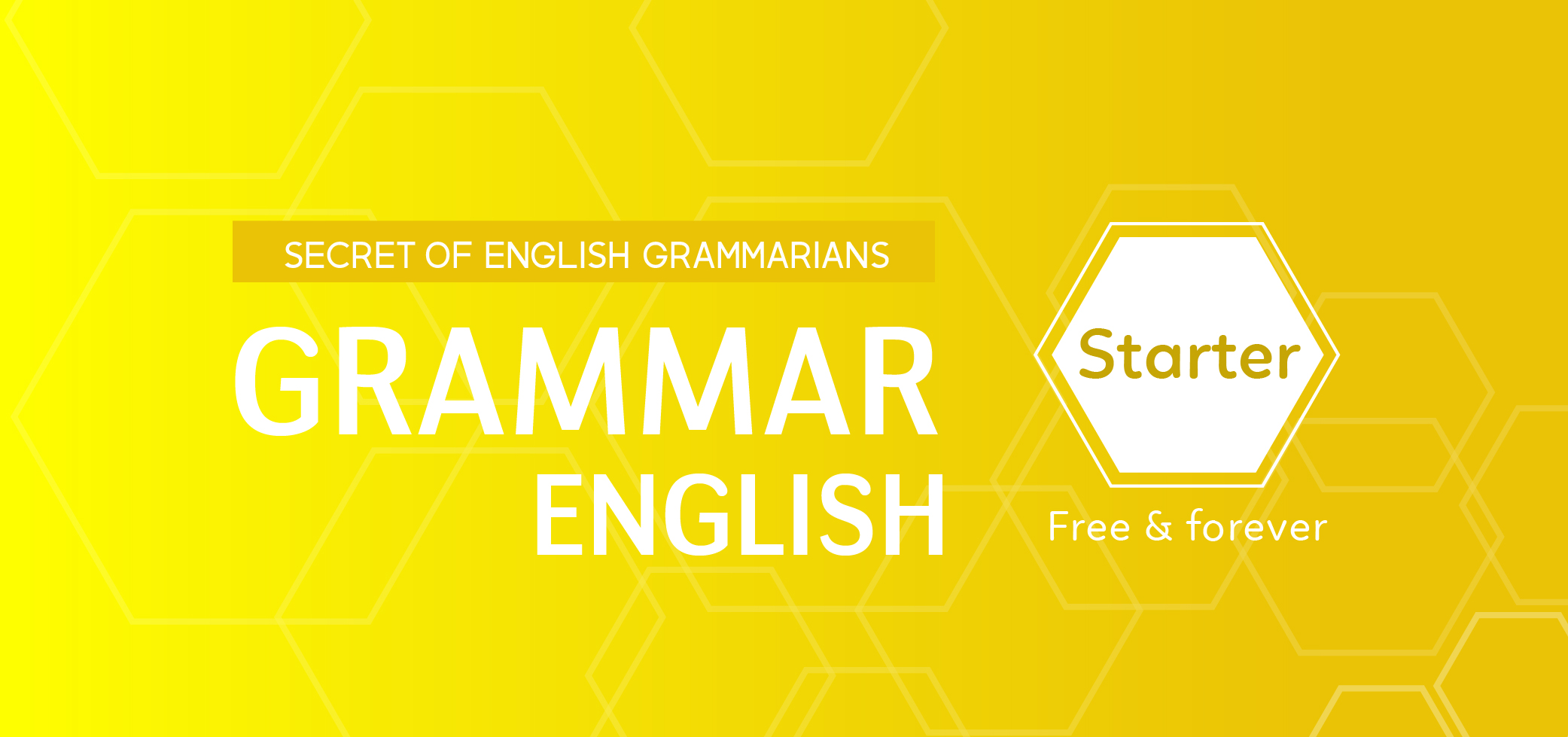 ENGLISH GRAMMAR FOR STARTER